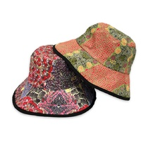 Warrina Aboriginal Art Reversible Bucket Hat - Bush Banana/Fire Dreaming