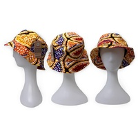 Bunabiri Aboriginal Art Cotton Bucket Hat - Snake Dreaming