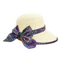 Warrina Aboriginal Art Giftboxed Ladies Straw Floppy Hat - Wild Bush Flower