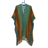 Saretta Aboriginal Art Cotton Kaftan- Kamari (Northward)