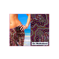 Bulurru Aboriginal Cotton Chiffon Sarong -  On Walkabout (Wine)