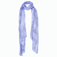 Outstations Aboriginal Art Viscose Scarf - Kangaroo Story (Lilac)