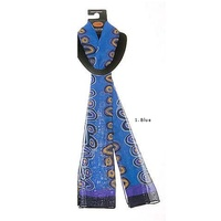 Outstations Aboriginal Art Polyester Chiffon Scarf - Lily Hargraves