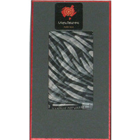 Utopia Dreaming [Giftboxed] Pure Silk Scarf  [Oblong) - Yam Spirit (Black n White)