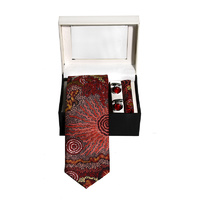 Better World Aboriginal 3pce Digital Silk Tie Set - Travelling through Country
