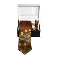 Better World Aboriginal 3pce Digital Silk Tie Set - Sandhills