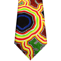 Hogarth Arts Aboriginal design Polyester Silk Tie - Pathways
