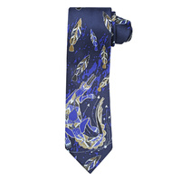 Yijan Aboriginal design Polyester Tie - Crocodile Dreaming (Blue)