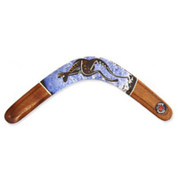 Aboriginal Art Handpainted Returning 3ply Handpainted Boomerang - Contemporary Art