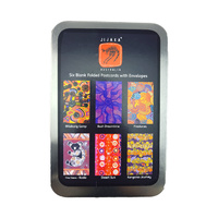 Jijaka Aboriginal Dot Art Folded Postcard Giftcard Set (6) - Tin Gift Box