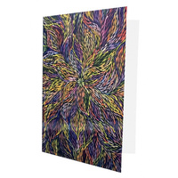 Utopia Aboriginal Dot Art Gift Greeting Card - Wild Flowers