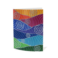 Yindi Artz Aboriginal Art Giftcard & Envelope - Connecting with You