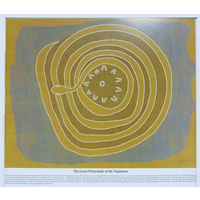 Dreamtime Kullilla-Art Mounted Poster Print - The Great Watersnake