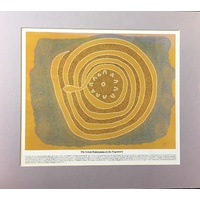 Dreamtime Kullilla-Art Ready-to-Frame oster Print - The Great Watersnake (Mauve)