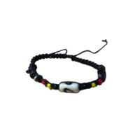Aboriginal Painted Bead Adjustable Braided Wristband - 3 Colour