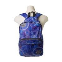 Warlukurlangu Aboriginal Art Fold Up Backpack - Seven Sisters Dreaming