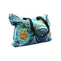 Bunabiri Aboriginal Art Canvas Bag - Colours of the Reef