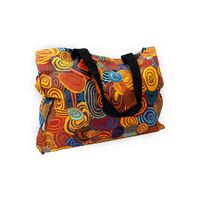 Jijaka Aboriginal Dot Art Canvas Bag - Firestones