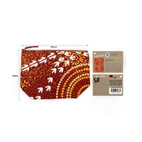 Bunabiri Aboriginal Art 1 Zip Large Cosmetic Bag (305mm x 210mm) - Dry Season