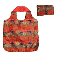 Hogarth Aboriginal Art Nylon Folding Shopping Bag - Kangaroo Journey
