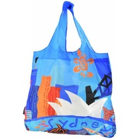 Jijaka Aboriginal Art Foldup Bag Nylon Shopping Bag - Sydney