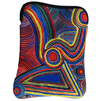 Yijan Aboriginal Art Neoprene iPad Cover - Two Boys Country