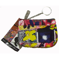 Yijan Aboriginal Art Keychain Coin Purse - Water Lillies