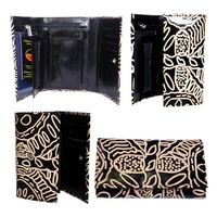 Keringke Leather Ladies Wallet (Medium)- Black/Brown