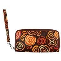 Jijaka Aboriginal Art Large Zipped Wallet - Riverstones