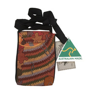 Bulurru Aboriginal Art Australia Made Passport/Travel Bag - Women's Corroboree