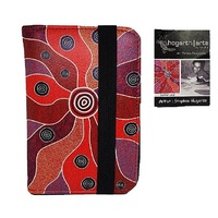 Hogarth Aboriginal Art PU Passport Holder - Central Land