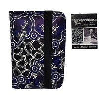 Hogarth Aboriginal Art PU Passport Holder - The Pond
