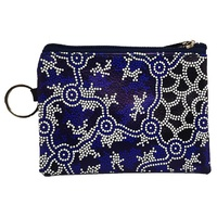 Hogarth Aboriginal Art PU Keyring Coin Purse - The Pond