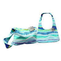 Bunabiri Aboriginal Art Cotton Hippie Sling Bag - Rainbow Reef
