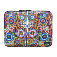 "Utopia Aboriginal Art Neoprene Laptop Sleeve (15"") - My Mother's Story"