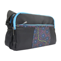 Warrina Aboriginal Art Travel/Toiletry Bag (Body Cross) - Dreamtime Flowers