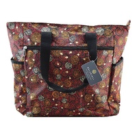 Balarinji Aboriginal Art Large Travel Bag - Emu Tracks