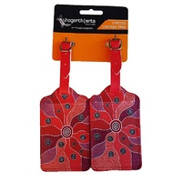 Hogarth Aboriginal Art 2pce Luggage Tag Set - Central Land