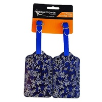 Hogarth Aboriginal Art 2pce Luggage Tag Set - the Pond