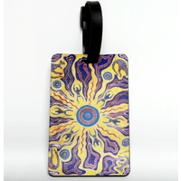 Tobwabba Aboriginal Art Soft PVC Luggage Tag - Spiritual Lands