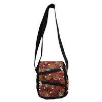 Balarinji Aboriginal Art XBody Travel Bag - Emu Tracks