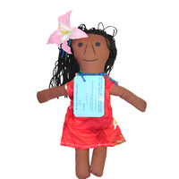 Handmade Soft-Fabric Aboriginal Doll - Torres Strait Island Female
