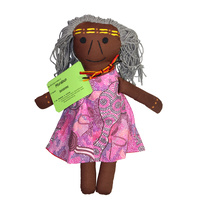 Handmade Soft-Fabric Aboriginal Doll Aboriginal Elder/Aunty Woman