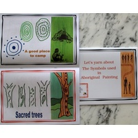 Aboriginal Children's Book - Yarn About Series - Symbols used in Aboriginal Painting