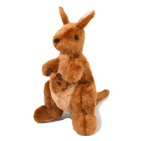 Plush Toy - Australia Made Kangaroo & Joey (26cm) with Eucalyptus Scent