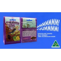 Aussie Sweet Treats - Kookaburra Bites (100g) - Chocolate Coated Jelly Snakes