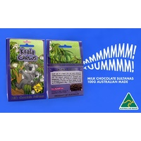 Aussie Sweet Treats - Koala Chews (100g) - Milk Chocolate Spearmint Leaves & Eucalyptus Chews