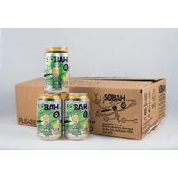 SOBAH Finger Lime Cerveza Non-Alcoholic Craft Beer (330ml Can) (Carton 24)