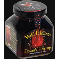 Wild Hibiscus Flowers in Syrup  (250g)
