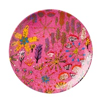 "Ampilatwatja Aboriginal Art 7"" Round China Plate - Bush Medicine"